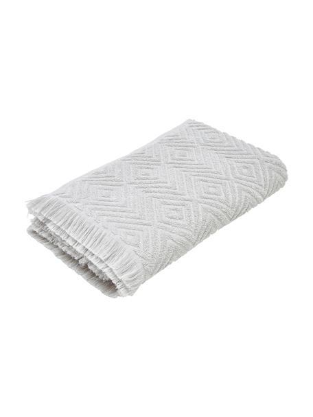 Ręcznik z wypukłą strukturą Jacqui, Jasny szary, Ręcznik dla gości