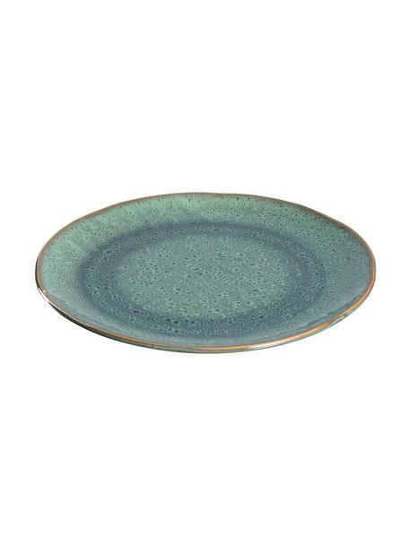 Frühstücksteller Matera in Grün, 6 Stück, Keramik, Grün, Ø 23 x H 2 cm