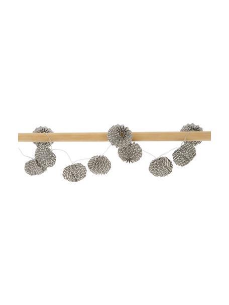 Guirnalda de luces Zagi, 120cm, 10luces, Linternas: papel, Cable: plástico, Blanco, negro, L 120 cm
