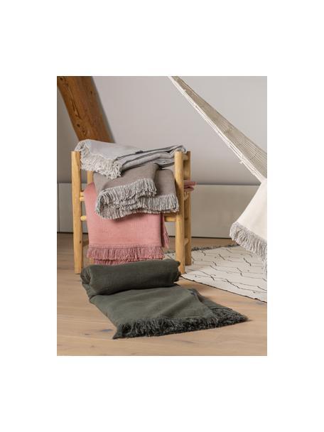 Manta suave Vienna, 85%algodón, 8%viscosa, 7%poliacrílico, Marrón, An 150 x L 200 cm
