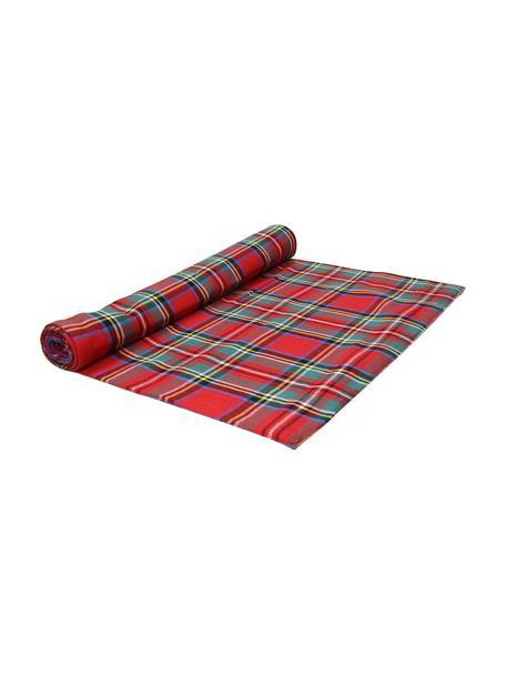 Geruite katoenen tafelloper Dublino, 90% katoen, 10% polyester, Rood, multicolour, 40 x 140 cm