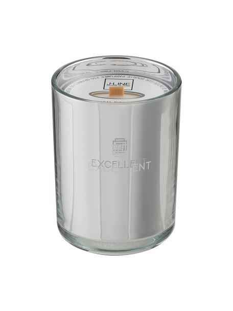 Geurkaars Excellent (suikerspin), Houder: glas, Zilverkleurig, Ø 9 x H 12 cm