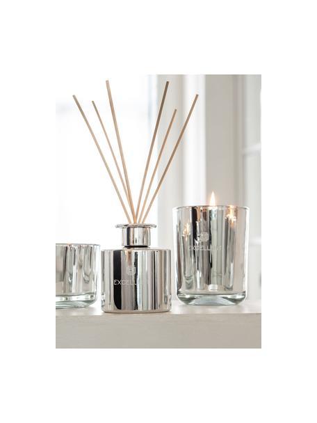 Candela profumata Excellent (zucchero filato), Contenitore: vetro, Argentato, Ø 9 x Alt. 12 cm