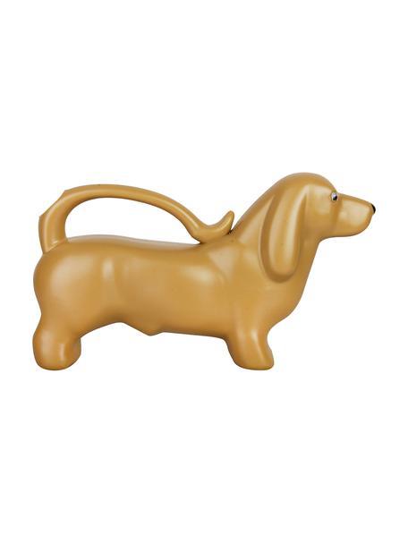 Gießkanne Dackel, Kunststoff, Goldfarben, 34 x 20 cm