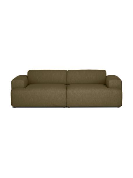 Sofa Melva (3-Sitzer) in Olivgrün, Bezug: 100% Polyester Der hochwe, Gestell: Massives Kiefernholz, FSC, Webstoff Olivgrün, B 238 x T 101 cm