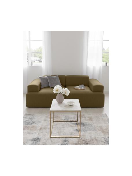 Sofá Melva (3plazas), Tapizado: 100%poliéster Alta resis, Estructura: madera de pino maciza, ce, Patas: plástico, Tejido verde oliva, An 238 x F 101 cm