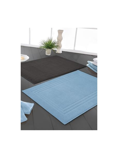 Dywanik łazienkowy Gentle, 100% bawełna, Ciemnyszary, S 50 x D 80 cm