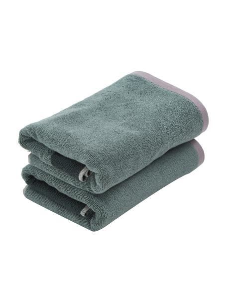 Asciugamano in diverse dimensioni Rock, 100% cotone biologico, Verde, verde scuro, Asciugamano per ospiti
