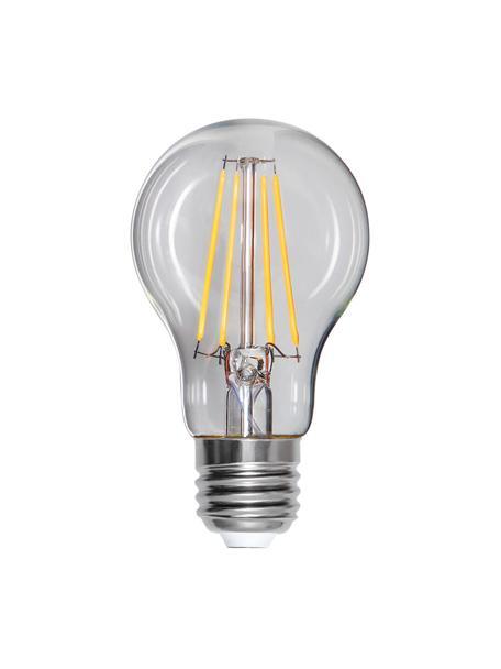 Bombillas regulables E27, 8W, blanco cálido, 3uds., Ampolla: vidrio, Casquillo: aluminio, Transparente, Ø 6 x Al 11 cm