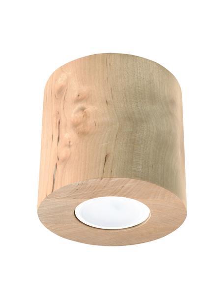 Faretto da soffitto in legno Roda, Lampada: legno, Marrone chiaro, Ø 10 x Alt. 12 cm