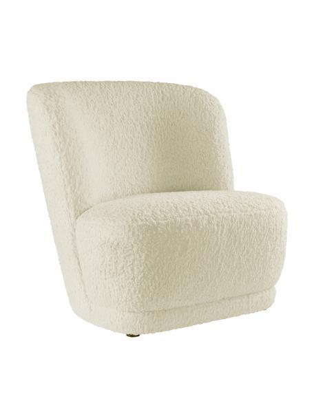 Krzesło dla dzieci Marbella, Tapicerka: poliester, Stelaż: drewno sosnowe, Kremowobiały, S 54 x G 56 cm