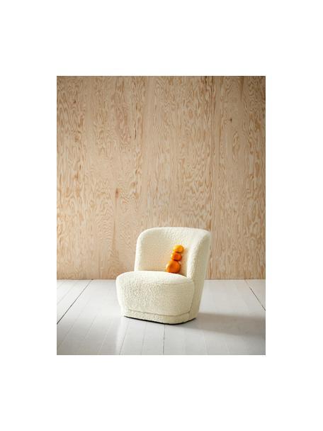 Sillón infantil Marella, Funda: poliéster, Estructura: madera de pino, Tapizado: blanco crema Patas: negro mate, An 54 x F 56 cm
