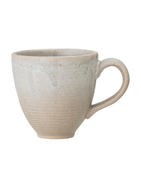 Tazas de café esmaltadas artesanalmente Taupe, 2uds., Gres, Gris, beige, Ø 8 x Al 8 cm