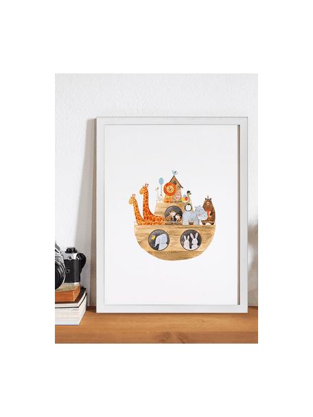 Oprawiony druk cyfrowy Noah's Ark, Biały, wielobarwny, S 33 x W 43 cm