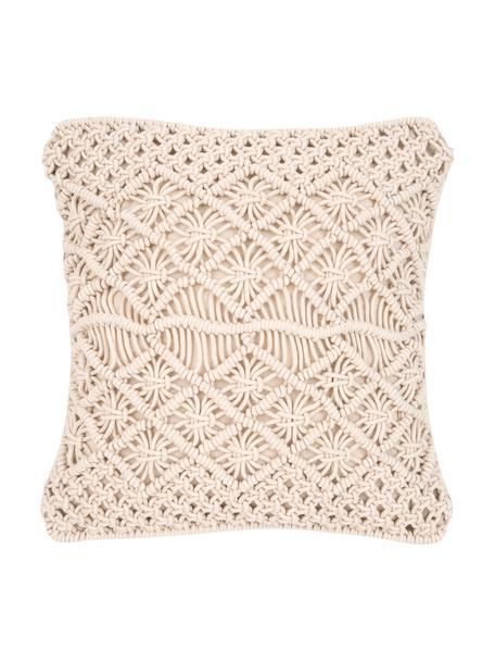 Poszewka na poduszkę Nalina, 100% bawełna, Ecru, S 45 x D 45 cm
