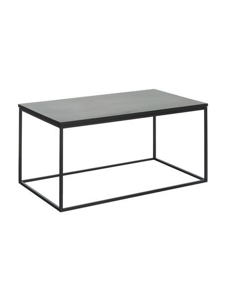 Mesa de centro de mármol Alys, Tablero: mármol natural, Estructura: metal con pintura en polv, Mármol negro, negro, An 80 x Al 40 cm