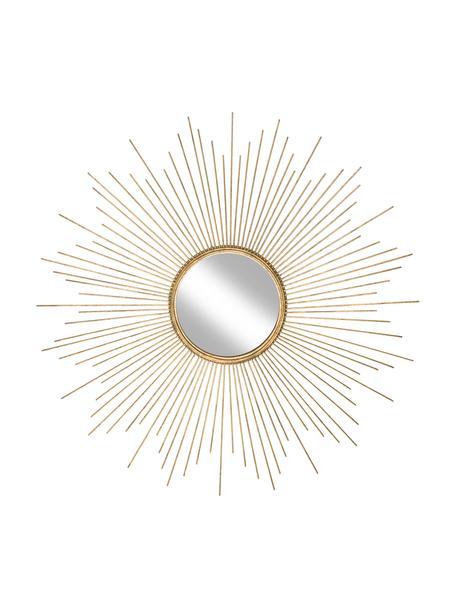 Okrągłe lustro ścienne z metalową ramą Ella, Odcienie złotego, Ø 98 x G 1 cm