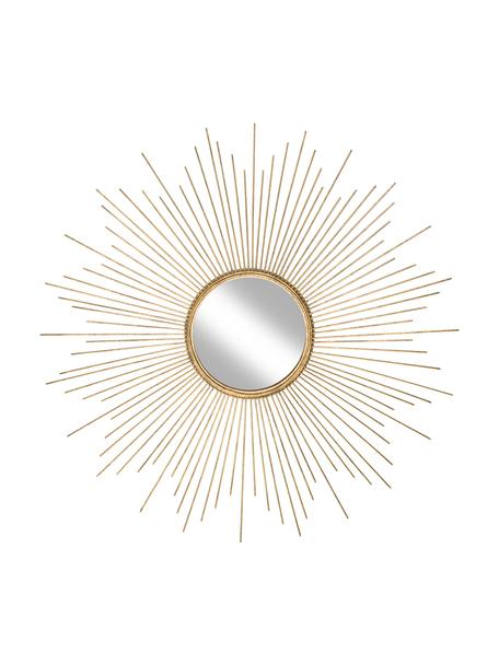 Specchio da parete in metallo dorato Ella, Cornice: metallo rivestito, Superficie dello specchio: lastra di vetro, Dorato, Ø 98 cm x Prof. 1 cm