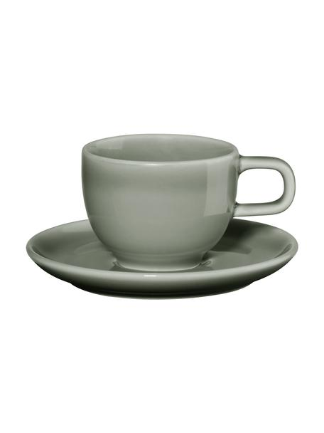 Porcelanowa filiżanka do espresso i ze spodkiem Kolibri, 6 szt., Porcelana, Szary, Ø 6 x W 6 cm