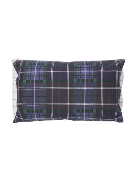 Funda de almohada Tartan Check, 50x110cm, 100%algodón El algodón da una sensación agradable y suave en la piel, absorbe bien la humedad y es adecuado para personas alérgicas, Azul, verde, lila, blanco, An 50 x L 110 cm