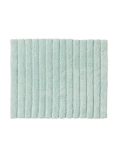 Flauschiger Badvorleger Board in Mintgrün, Baumwolle, schwere Qualität, 1900 g/m², Mintgrün, 50 x 60 cm