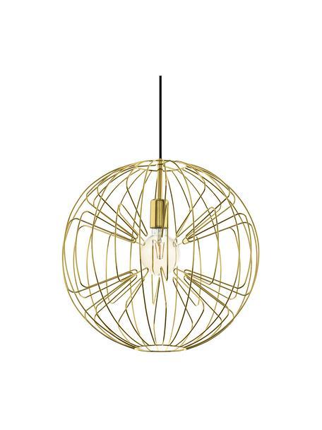 Hanglamp Okinzuri in goudkleur, Lampenkap: gelakt metaal, Baldakijn: gelakt metaal, Goudkleurig, Ø 45 cm