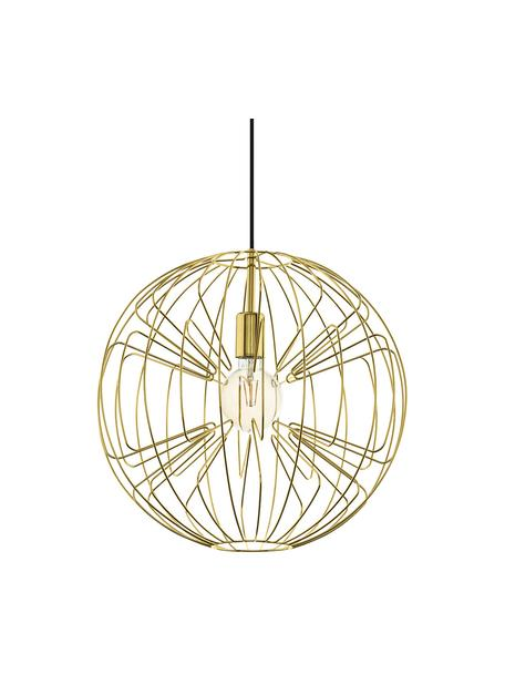 Lampada a sospensione dorata Okinzuri, Paralume: metallo verniciato, Baldacchino: metallo verniciato, Oro, Ø 45 x Alt. 110 cm