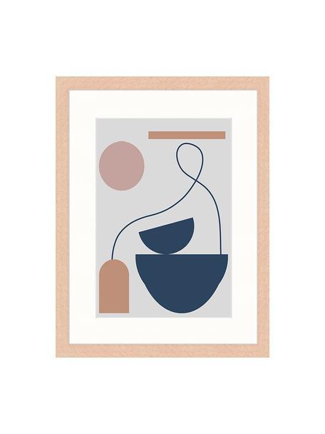 Impresión digital enmarcada Abstract Composition, Multicolor, An 33 x Al 43 cm