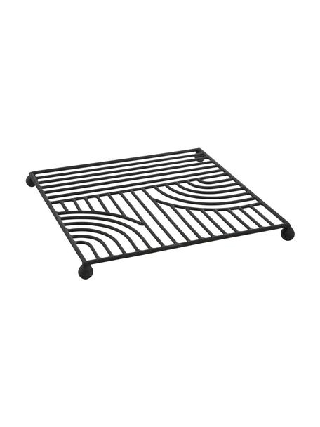 Salvamanteles Maze, Metal pintado, Negro, An 20 x L 20 cm