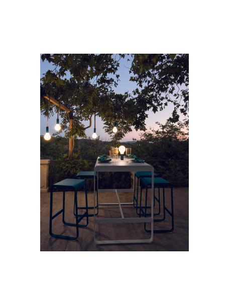 Mobiele dimbare outdoor lamp Aplô, Lampenkap: polyethyleen, Voetstuk: gecoat aluminium, Wit, antraciet, Ø 12 x H 25 cm