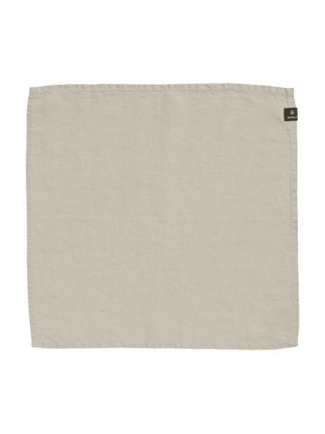 Tovagliolo in lino beige chiaro Sunshine 4 pz, Lino, Bianco cenere, Larg. 45 x Lung. 45 cm