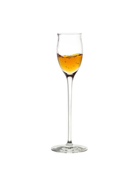 Copas de licor de cristal Quatrophil, 6uds., Cristal, Transparente, Ø 6 x Al 20 cm