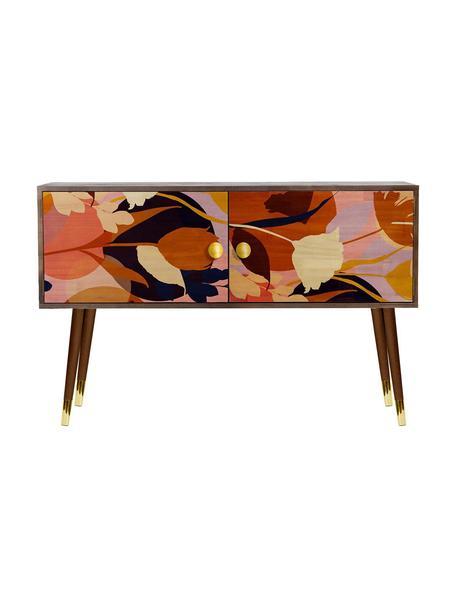 Cómoda Flowers, Patas: madera de pino pintada co, Multicolor, An 115 x Al 74 cm