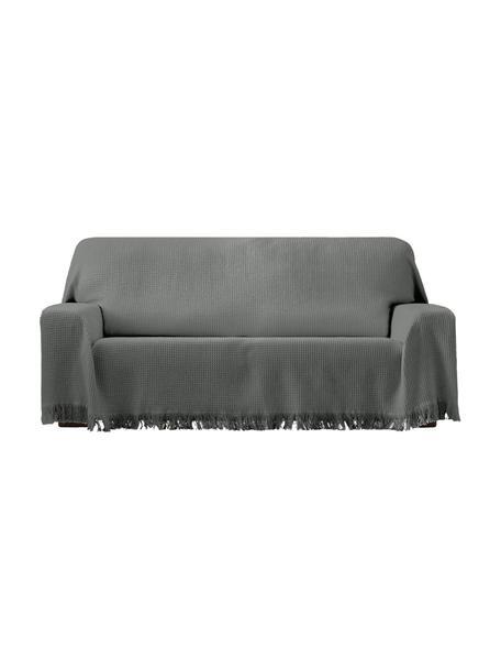 Funda sofá multifuncional Amazonas, 80%algodón, 20%otras fibras, Gris, An 230 x L 260 cm