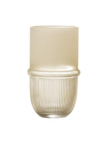 Glasvase Belise in Weiß, Glas, Braun, Ø 11 x H 19 cm
