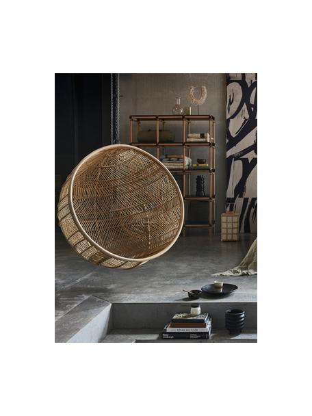 Ronde rotan hangstoel Structure, Rotankleurig, Ø 108 x D 83 cm