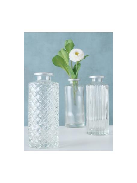 Set 3 vasi decorativi in vetro Adore, Vetro, Trasparente, Ø 5 x Alt. 13 cm