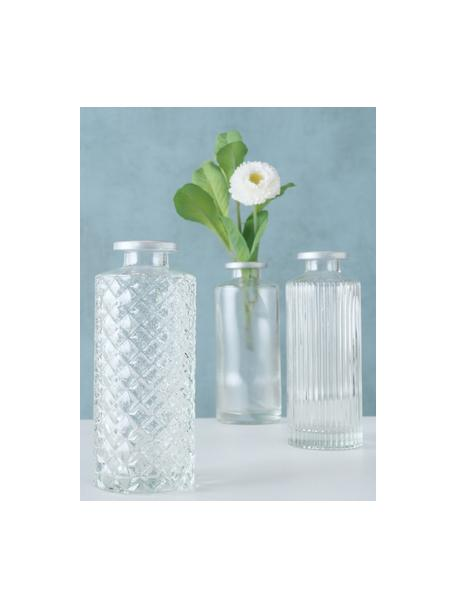 Vazenset Adore van glas, 3-delig, Glas, Transparant, Ø 5 x H 13 cm