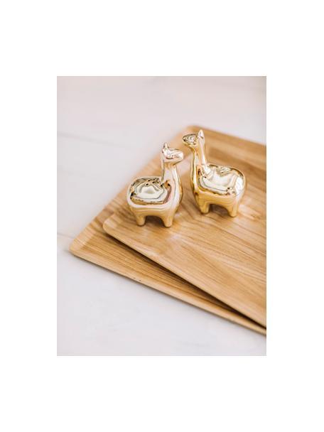 Komplet solniczki i pieprzniczki Lamas, 2 elem., Ceramika, Odcienie mosiądzu, S 5 x W 9 cm