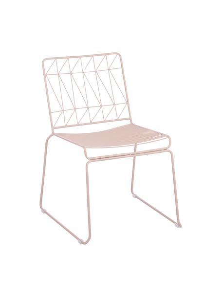 Krzesło balkonowe Bueno, Metal powlekany, Różowy, S 55 x W 77 cm