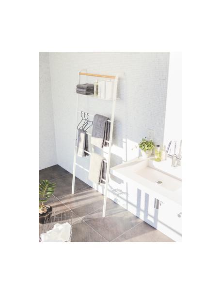 Estantería escalera de metal Lena, Estructura: metal con pintura en polv, Blanco, An 66 x F 160 cm