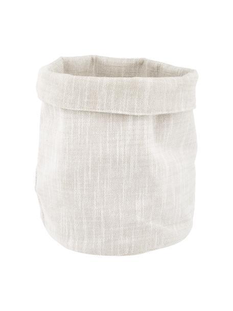 Cestino per il pane in cotone beige Kari, Cotone, Beige, Ø 30 x Alt. 26 cm