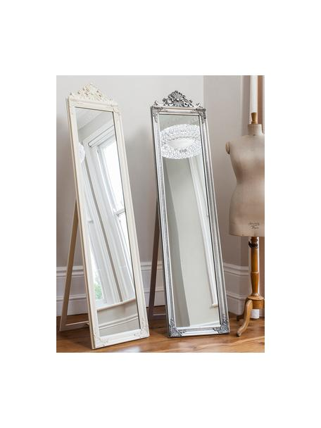 Specchio quadrato da terra Lambeth, Cornice: poliresina, Superficie dello specchio: lastra di vetro, Argentato, Larg. 46 x Alt. 79 cm