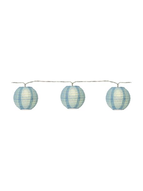 Ghirlanda a LED Festival, 435 cm, 10 lampioni, Lanterne: carta, Blu, Lung. 435 cm