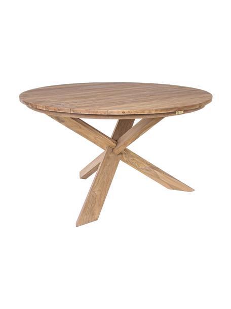 Mesa de comedor de madera maciza Rift, Teca reciclada y certificado FSC, Teca, Ø 135 x Al 76 cm