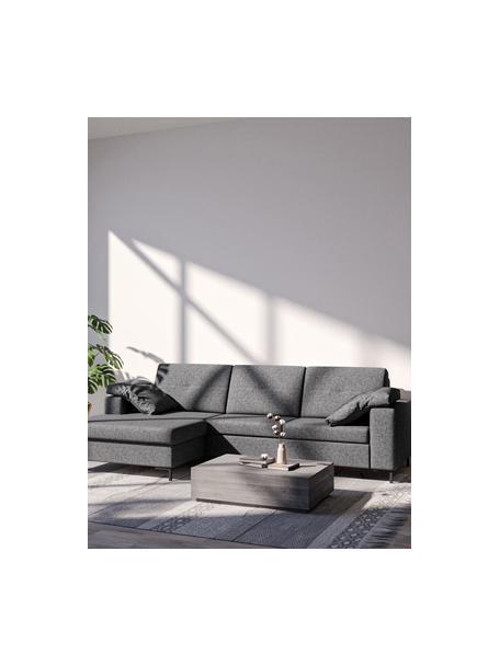 Sofa narożna z funkcją spania i miejscem do przechowywania Moor, Tapicerka: 100% poliester z systemem, Stelaż: drewno liściaste, drewno , Nogi: drewno lakierowane Dzięki, Antracytowy, S 260 x G 162 cm