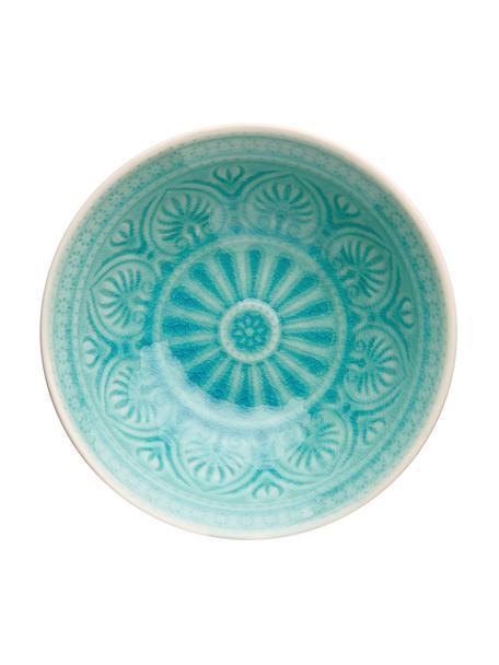 Schaal Sumatra, Keramiek, Turquoise, Ø 14 cm