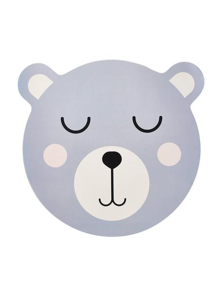 Placemat Bear, Kunststof, Blauw, wit, zwart, 37 x 37 cm