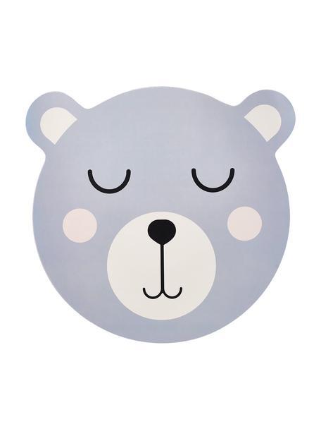 Tischset Bär, Kunststoff, Blau, Weiß, Schwarz, 37 x 37 cm