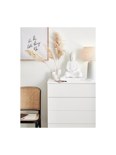 Schubladenkommode Sanford in Weiß, Korpus: Mitteldichte Holzfaserpla, Fußgestell: Metall, pulverbeschichtet, Weiß, Schwarz, 80 x 106 cm